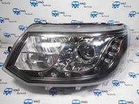 Фары передние с линзой и LED ДХО VW T5GP (комплект)